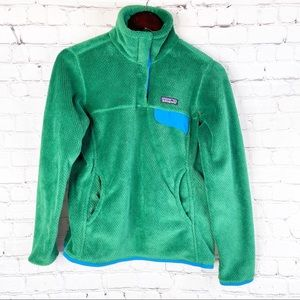 PATAGONIA Retool Snap-T Pullover Green Blue S
